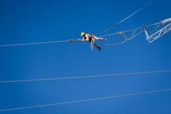 能量导线的工程师工作者 免版税库存图片