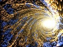 能量微粒和轻的核心的概念 3d例证 皇族释放例证