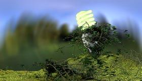 能量救球电灯泡 库存照片