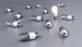 能量救球电灯泡 库存图片