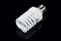能量聪明的螺旋电灯泡 免版税库存图片