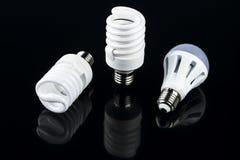 能量聪明的螺旋电灯泡 免版税图库摄影