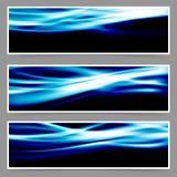 能量速度swoosh蓝色波浪倒栽跳水集合 免版税库存照片