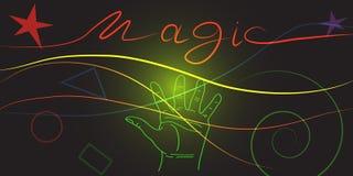 能量魔术 库存例证