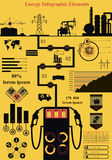 能量infographics 免版税库存照片
