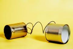 能给锡打电话 黑色通信概念收货人电话 免版税库存图片