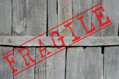 脆弱的木头 免版税库存照片