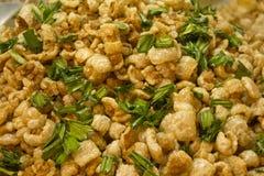 脆皮火食物泰国北部 免版税库存照片