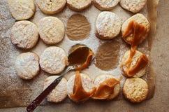 脆饼焦糖传播 库存照片
