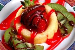 脆饼草莓 免版税库存图片