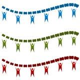 脊椎对准线按摩脊柱治疗者队象集合 免版税图库摄影