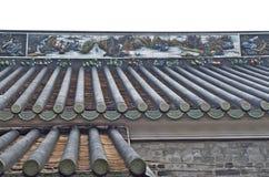 脊椎屋顶线路 免版税库存图片