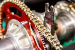 脊椎推进摩托车引擎 免版税图库摄影