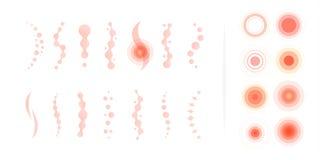 脊椎痛苦区域 腰疼摘要传染媒介象 医疗infographic要素 也corel凹道例证向量 向量例证