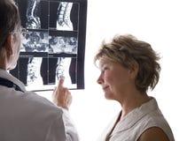 脊髓的mri 免版税库存照片