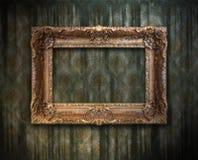 脏古色古香的框架 免版税库存照片