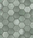 脏的六角铺磁砖的无缝的纹理 免版税库存图片