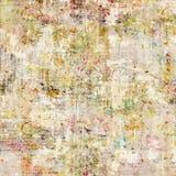 脏的古色古香的葡萄酒花卉背景 库存图片