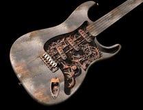 脏的吉他废物蒸汽 向量例证