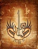 脏的吉他 免版税库存照片