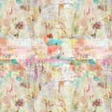 脏的困厄的艺术性的被绘的拼贴画背景 向量例证