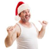 脏的圣诞老人-这个人 免版税图库摄影