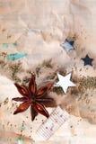 脏的圣诞节背景 图库摄影