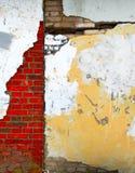 脏的墙壁 免版税库存照片