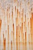 脏的斑纹的铁锈背景纹理 图库摄影