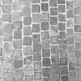 脏的有裂痕和困厄的石砖水泥背景 免版税库存照片