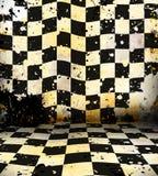 脏的棋枰空间 库存图片