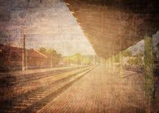 脏的火车站 图库摄影