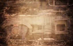 脏的火车 库存照片
