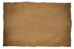 脏的纸葡萄酒 库存照片