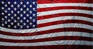 脏的美国旗子油漆纹理 库存图片