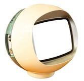 脏的老电视机 免版税库存照片