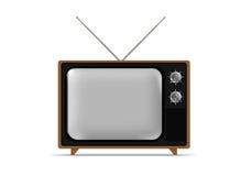 脏的老电视葡萄酒 免版税图库摄影