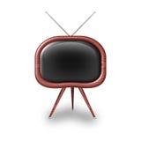 脏的老电视葡萄酒 库存图片