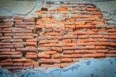 脏的老砖墙样式 抽象红色年迈的砖backgroun 免版税库存图片