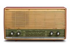 脏的葡萄酒收音机(裁减路线) 免版税库存照片