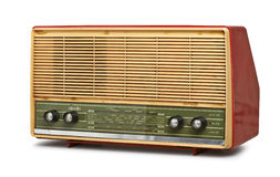 脏的葡萄酒收音机(裁减路线) 图库摄影