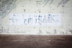 脏的街道墙壁 库存图片