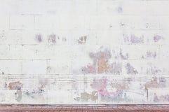 脏的街道墙壁 免版税图库摄影