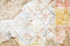 脏的被绘的墙壁 免版税库存照片