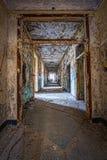 脏的走廊在Letchworth村庄机关 库存照片