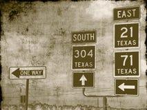 脏的路标 免版税图库摄影