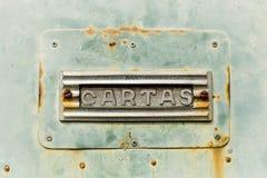 脏的金属纹理邮箱 免版税库存图片