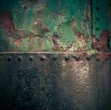 脏的铁被绘的生锈的纹理 免版税库存图片