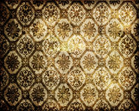 脏的维多利亚女王时代的墙纸 免版税库存图片