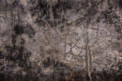 脏的破裂的水泥墙壁 库存照片